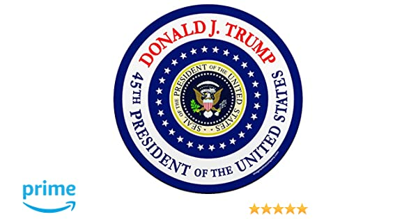 45th President of The United States Circle Car Magnet Trump Imagine This YY7763 Donald J