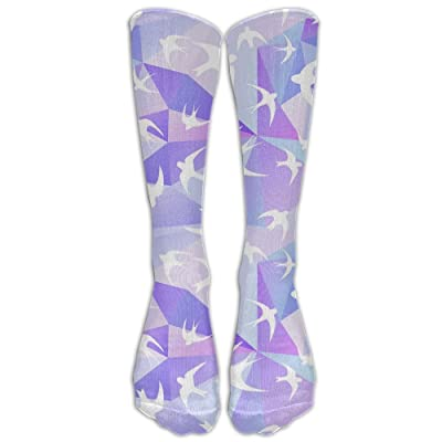 GFDIK NEW Design Purple Sparrow Socks Stockings Tide Girls High Tube Socks Street Sports Socks