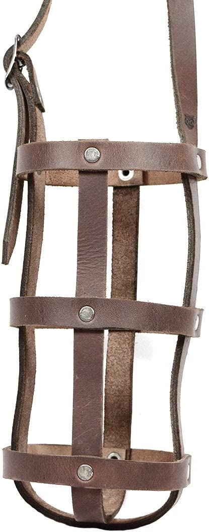 Hide & Drink, Rustic Leather Water Bottle Holder With Adjustable Strap, Fits (2.5 in.) Diameter Bottles, Holster, Carrier, Case, Booze Strap, Handmade Includes 101 Year Warranty :: Bourbon Brown