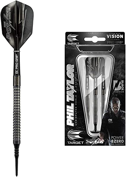 Phil Taylor Power 8Zero Titanium Steel Tip Darts Target Darts