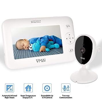 Amazon.com: Monitor de vídeo para bebé, monitor de 4,3 ...