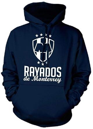 New! Rayados de Monterrey Crest Mens Hooded Sweatshirt (Small) Blue