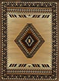 Rugs 4 Less Collection Southwest Native American Indian Area Rug Design R4L 143 Beige / Berber (5'2''x7'2'')