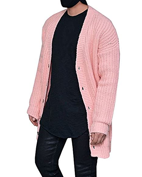 Amazon.com: paslter para hombre cable Knit Sweater chaqueta ...