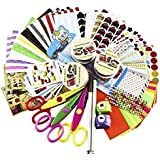 for SiCoHome Scrapbook,Scrapbooking Supplies with Paper Stickers Punches and Storage, Scrapbook DIY Photo Albums Supplies And Diary Decor Scrapbook Accessories(Original Sticker Set)