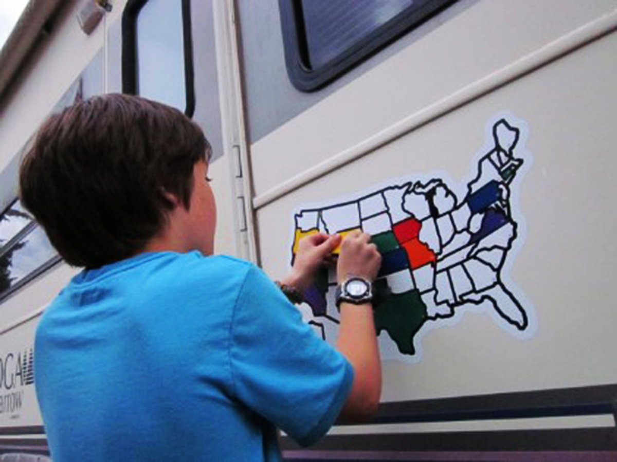 Roadmap Of The Us%0A Amazoncom USA Sticker Map X For RV Camper Motor Home  Rv map of us