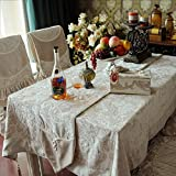 DIDIDD Korean Tablecloth Garden Tablecloth Table Cloth Simple Table Cloth,A,180x180cm(71x71inch)