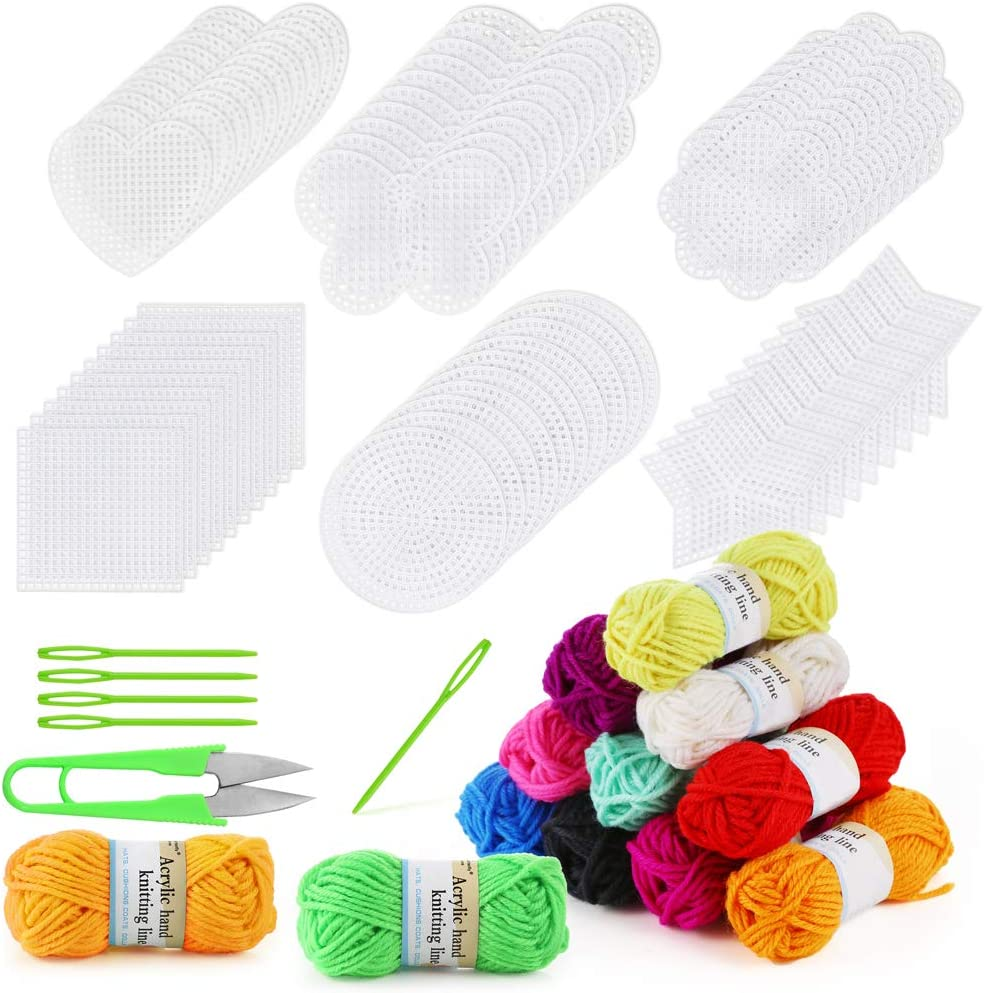 Crafting Plastic Canvas Shape Circle for Rug Hooking Yarn Crafting Projects