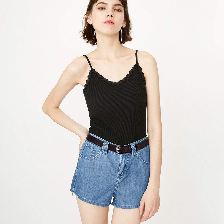 JasGood Damen Lederg/ürtel Mode Doppel O-Ring Schnalle G/ürtel f/ür Jeans Hosen Kleider