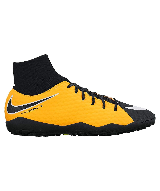 Nike Hypervenomx Phelon 3 TF Kunstrasen Erwachsene Fußball Stiefel 45.5 – Fußballschuh (Kunstrasen, Erwachsener, männlich, Sohle für Kunstrasen, Schwarz, Orange, Bedruckt)