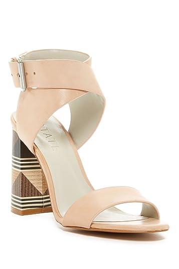 1a36e0c93 STATE Rayla Latte Nude Block Clolor Design Heel Ankle Strap Open Toe Sandal  (