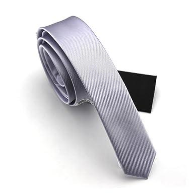 Fan-tastik Écologique Cravate Étroit Solide Couleur Uni Homme 1.6   ... 217af6a2942