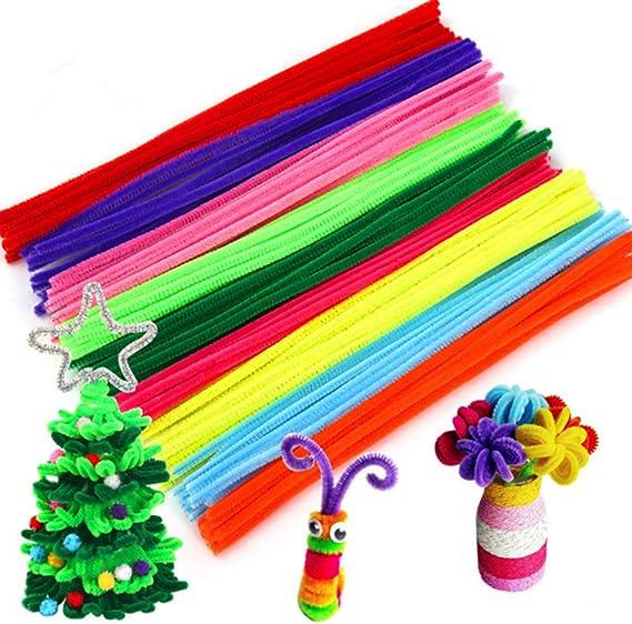 ultnice Chenille cure-pipe autocollantes Wiggle Pompons pour travaux manuels multicolores cure-pipes pour DIY Art et artisanat