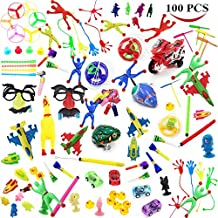 Mseeur 100 Pc Party Favor Toy Assortment for Kids Party Favor, Birthday Party, School Classroom Rewards, Carnival Prizes, Easter Party and Other Small/medium Toys