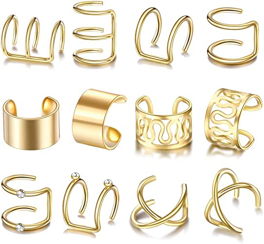 Mode nicht Piercing Clip Ohr Manschette Stud Frauen Wrap Knorpel Ohrring Schmuck