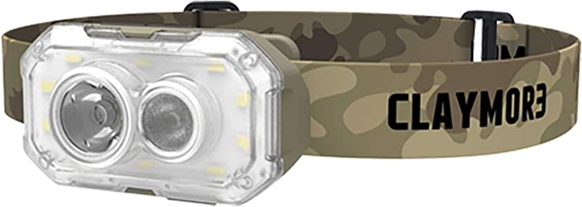 Claymore Heady+ Headlamp and Lantern, 600 Lumens, 3,5000mAh, USB Rechargeable, 4 Lighting Modes, 3 Colors, Portable LED Flashlight for Camping Running Hiking and More [Tan]