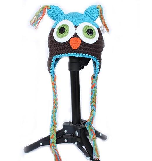 7c22120e3d2 Amazon.com  Newborn Baby Boy Girl Ear Flap Hat Knitted Cap Handmade ...