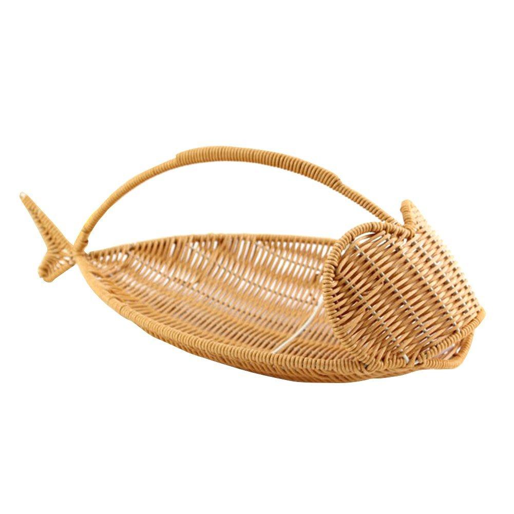 Handheld Woven Basket Picnic Basket Hot Pot Basket Plastic Baskets Plastic Craft Baskets Artificial Rattan Weaving