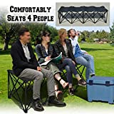 BenefitUSA Portable Sports Bench Sits 3/4/6/8