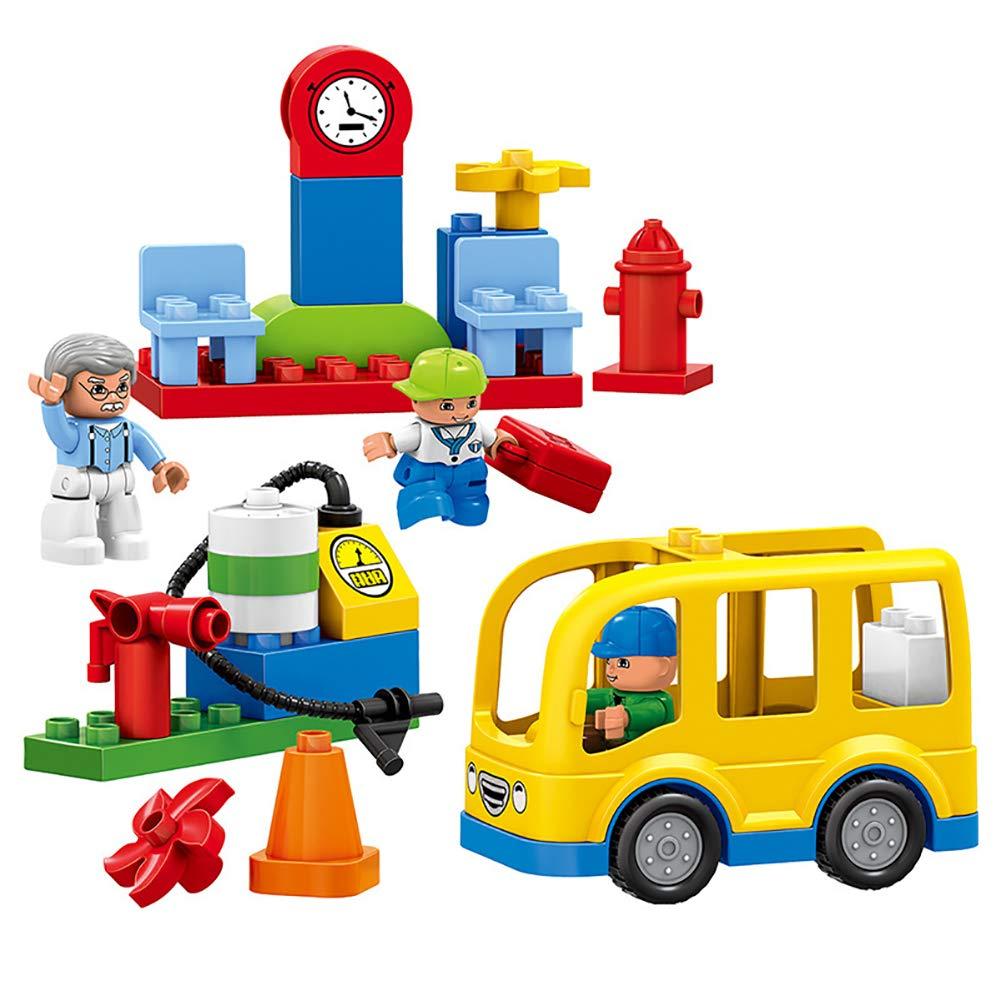 SU Kinderspielzeug, Bausteine, Freude, Bushaltestelle, Große Partikel, Auto-Montage, DIY, 3 Jahre Alt Oder Älter