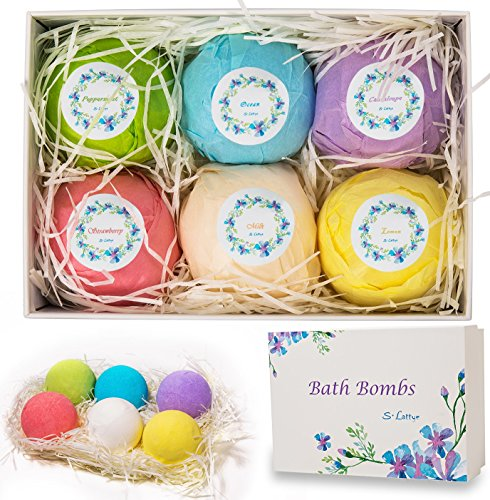 Bath Bombs Bubble Spa Gift Set - Large Lush Fizzy Round with Salt and Fragrance Shea Essential Oils Best for Women Men Girls Kids Boys Birthday Christmas Mother Father Day New Year Easter (Pigment Adult Funny)