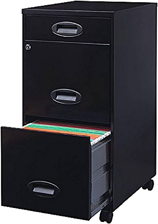 Amazon Com Mobile File Cabinet With Wheels Rolling Storage 3