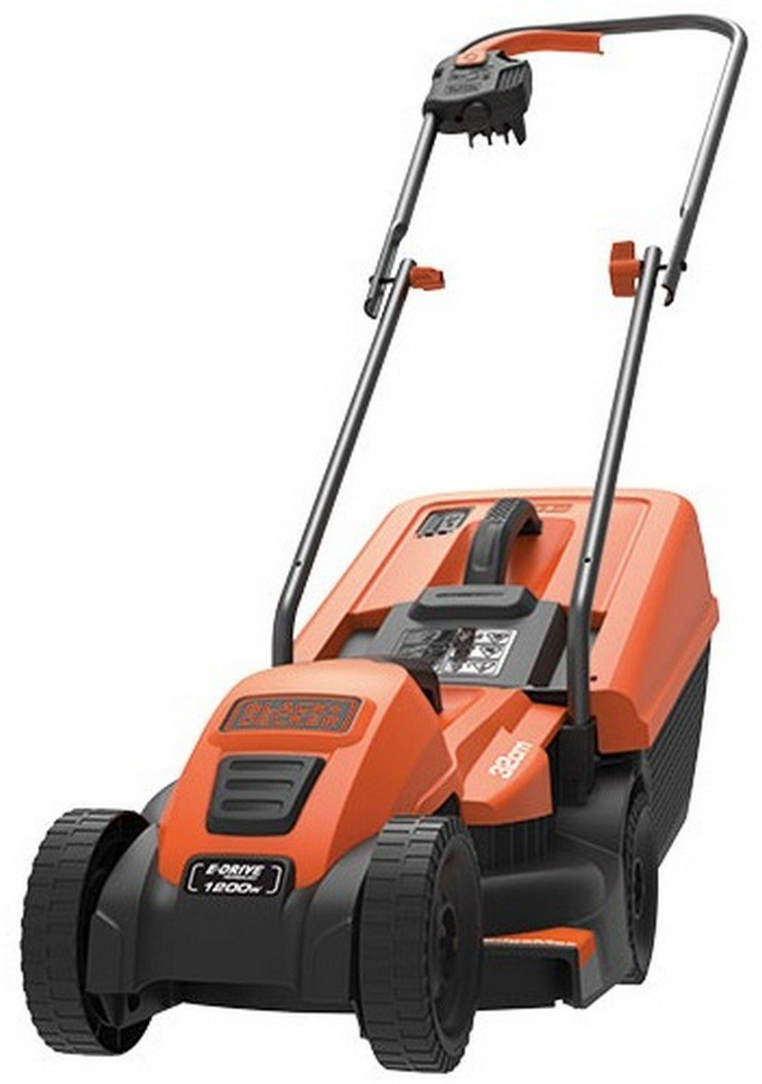 BLACK+DECKER 1200W Edge-Max Lawn Mower with 32 cm Cut/ 35 L Box Black & Decker EMAX32S-GB