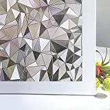 Bloss Vinyl Frosted Glass Film 3D Static Cling Window Film Stained Glass Paper Decorative Film for Window 17.7inch x 78.7 inch, 1 Roll