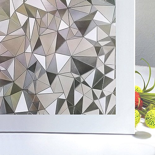 Bloss Vinyl Frosted Glass Film 3D Static Cling Window Film Stained Glass Paper Decorative Film for Window 17.7inch x 78.7 inch, 1 Roll - Doors With Side Panels