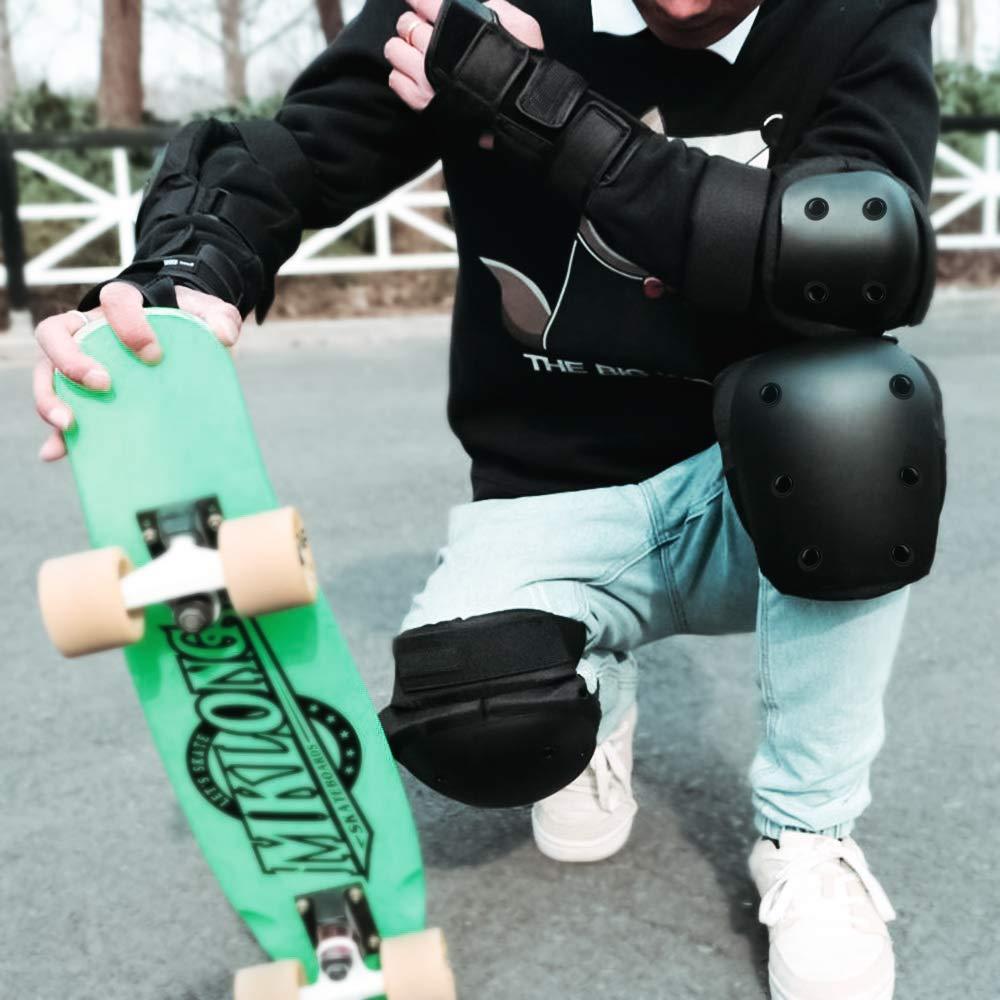 SZSMD Kinder Protektorenset 6 St/ück Schutzausr/üstung Kniesch/ützer Ellbogensch/ützer Schutzausr/üstung Handgelenkschoner Set f/ür Teenager Erwachsene BMX Skateboard Inline Roller Skate Outdoor Sport