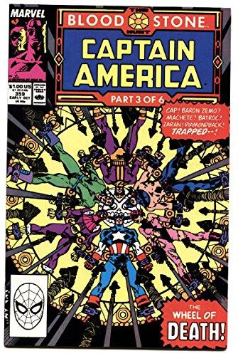 Captain America #359 comic book 1989-CROSSBONES cameo-Marvel Copper Age -NM
