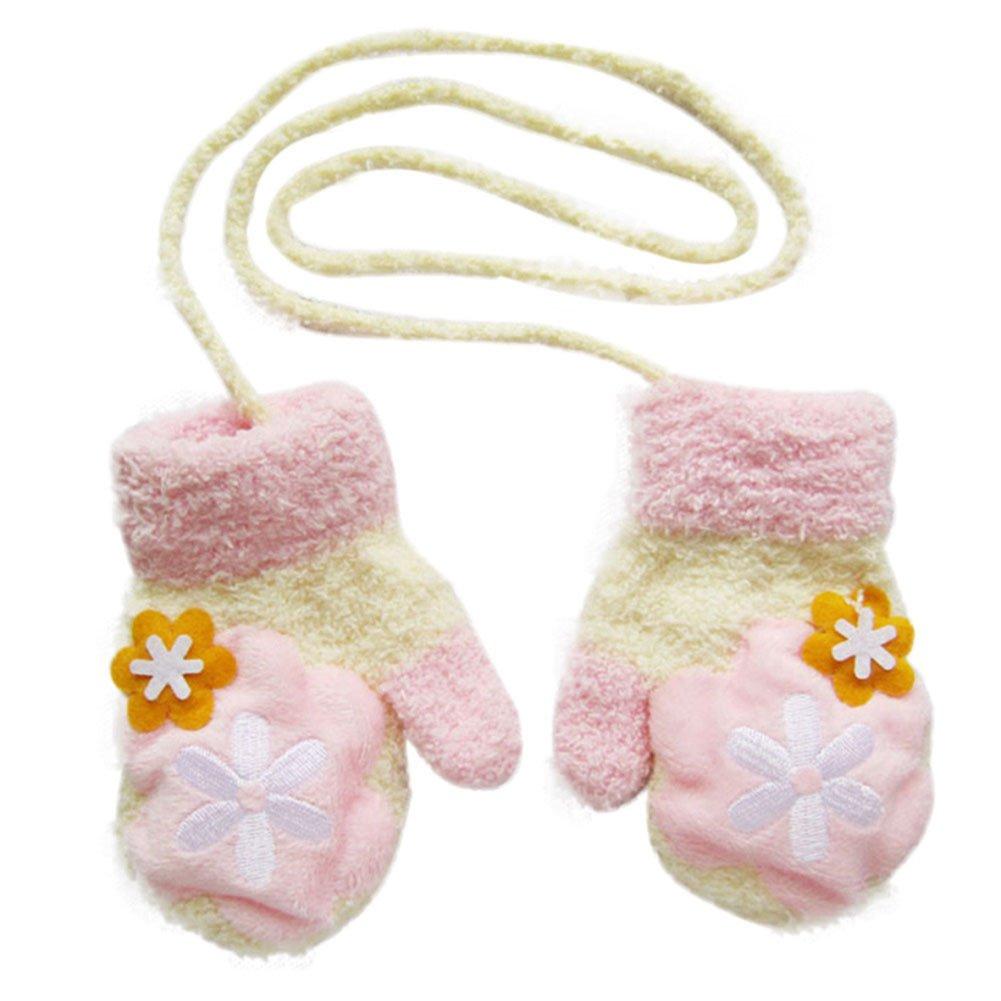 Westeng Erstaunlich nette Karikatur-verdicken warme Fleece-Säuglings-Baby-Jungen-Mädchen-Winter-warme Handschuhe Newborn Fäustlinge für 0-12 Monate unisex-baby