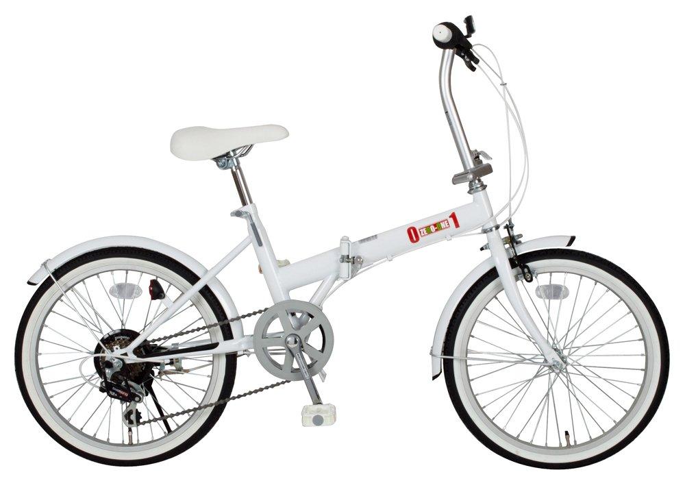 ミムゴ(MIMUGO) ZERO-ONE シマノ製6段ギア搭載 折りたたみ自転車 20インチ ホワイト MG-ZRE206-WH B00972QKZQ