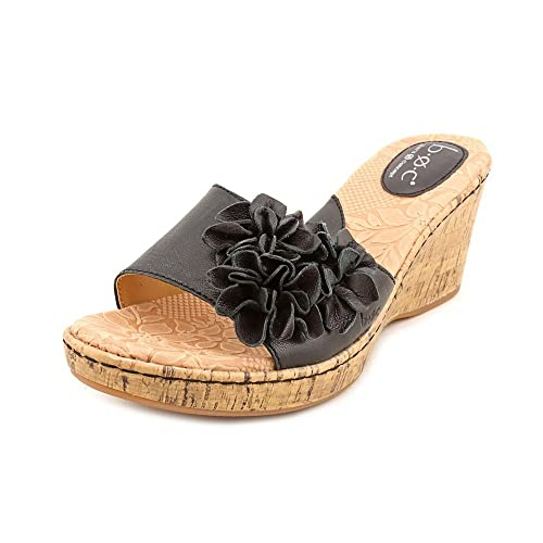 5279bbe394bf Born Concepts Women s Mel Open Toe Wedge Sandals in Black Size 9   Amazon.ca  Shoes   Handbags