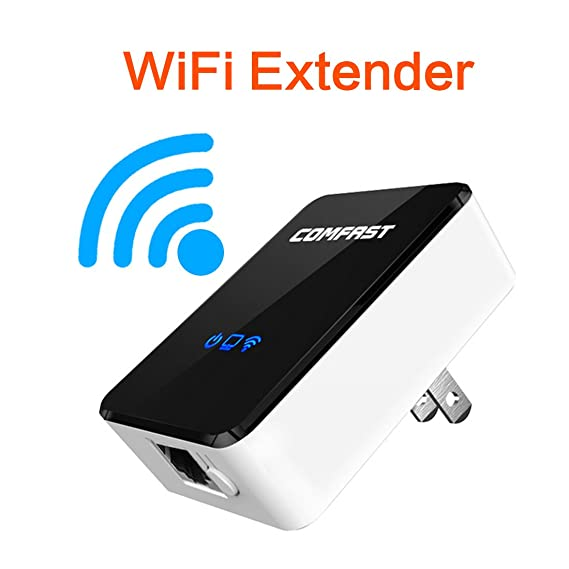 Amazon Sunmy High Gain 300Mpbs Wireless Signal Amplifier WiFi Range Extender Router Access Point With Ethernet Port For PC Laptops Desktop Iphone