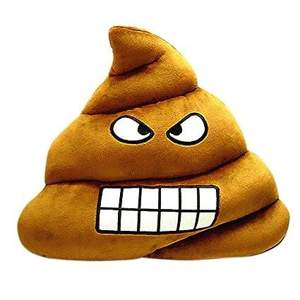 Suave electek Emoji arrancadora de gracioso caca juguetes de peluche muñeca almohadilla de tiro cojín