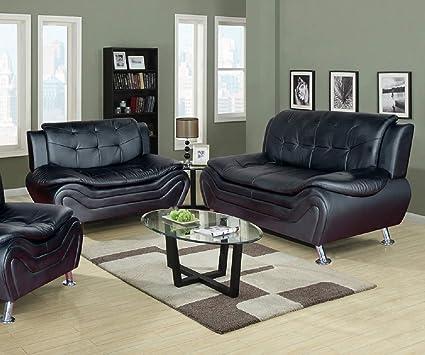 Amazon.com: Hollywood Decor Telenesti Modern Sofa & Loveseat ...