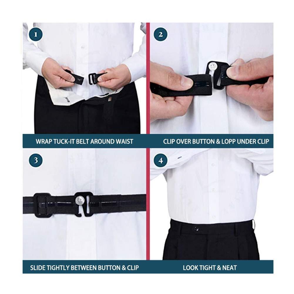 Adjustable Elastic Shirt Garter Shirts Holder with Non-slip Locking Clamps Bolonbi 2 Pairs Men Shirt Stays