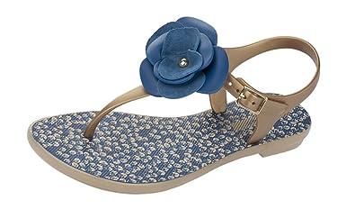 a25fc5065 Grendha Bouquet Sandal Womens Flip Flops   Sandals - Black  Amazon ...