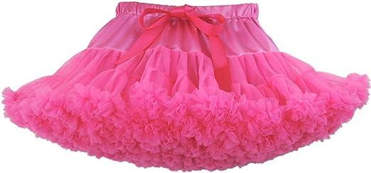 Orange Petti Ballet Knotted Dance Tutu Tulle Skirt Baby Girl Petticoat NB-4Year
