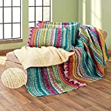 Southwest Reversible Quilt Tribal Pattern Colorful Bedroom Bed Decor Choose Item