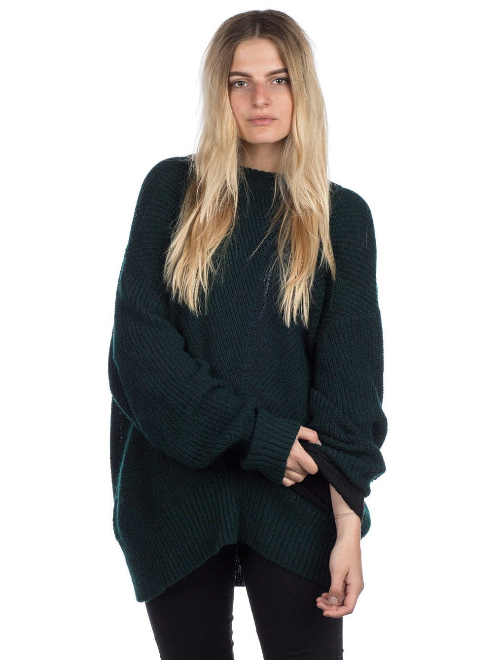 TALLA S. Volcom Stormy Sweater Evergreen S