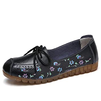 524f0c4a1317b Amazon.com: August Jim Women's Loafers Shoes,Slip-on Rubber Sole ...