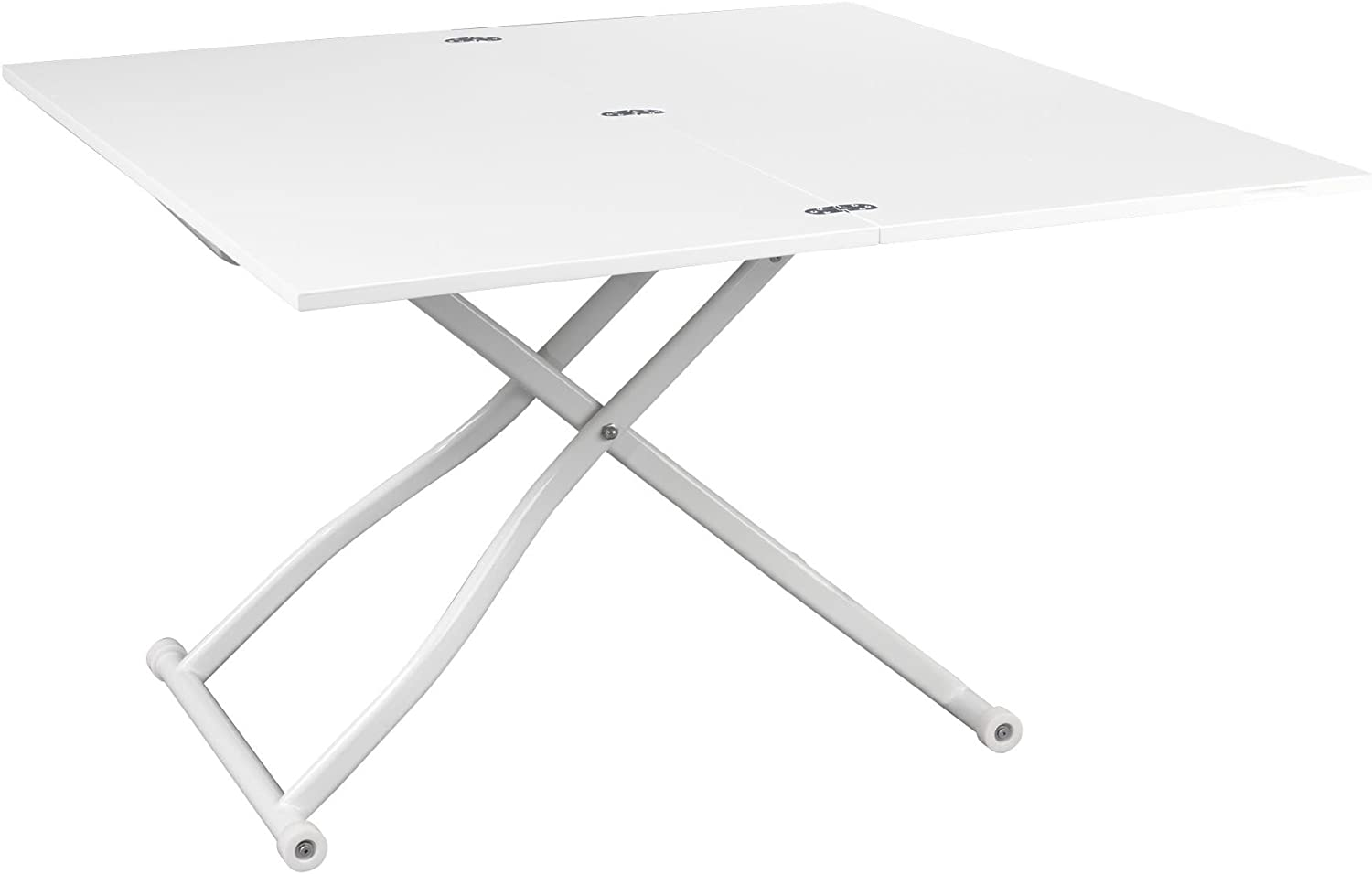 Alinéa Up Down 6 Table Basse Transformable Blanc 166.6x6.6x166.6