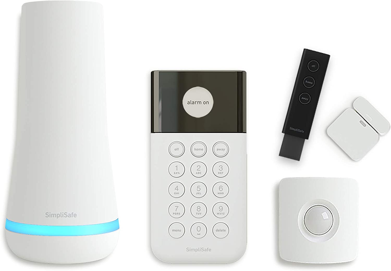 Simplisafe 5 Piece Wireless Home Security System Optional 24 7 Professional Monitoring No Contract Compatible With Alexa And Google Assistant Amazon Com