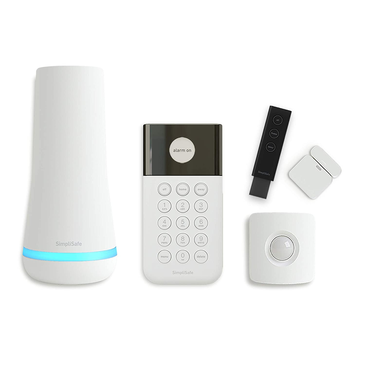 SimpliSafe 5 Piece Wireless Home Security System - Optional 24/7 Professional Monitoring - No Contract - Compatible with Alexa and Google Assistant
