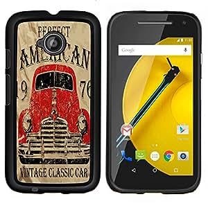 Dragon Case - FOR Motorola Moto G 2nd Generation - vintage classic car - Caja protectora de pl??stico duro de la cubierta Dise?¡Ào Slim Fit