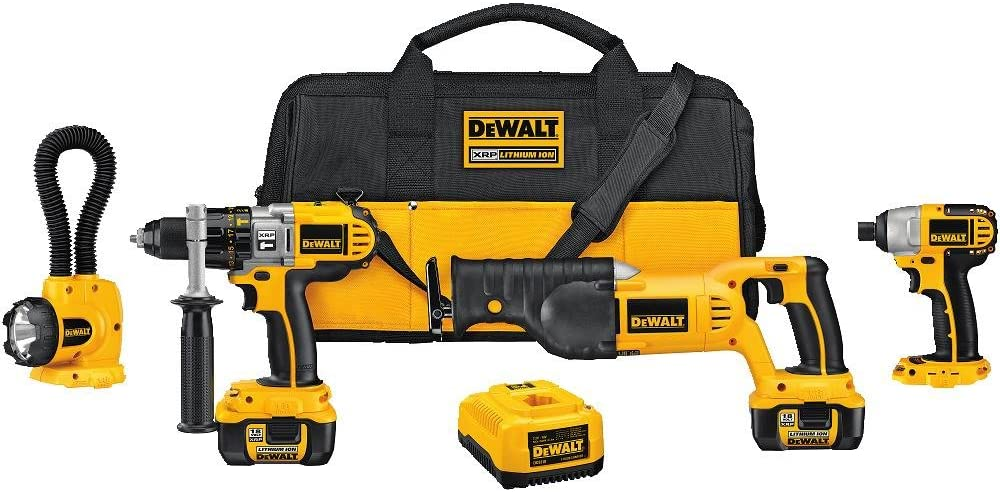 DEWALT DCK475L 18-Volt 4-Tool Cordless Combo Kit with NANO Technology