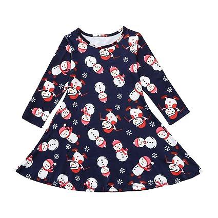 ac6aa3377fcc Little Girl Christmas Dress,Jchen(TM) Fashion Toddler Kid Baby Girls Long  Sleeve
