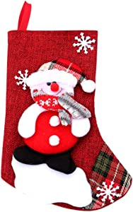 Christmas Tree Hanging Socks Linen Festival Apple Gift Candy Bags Cartoon Snowflake Xmas Party Decor B